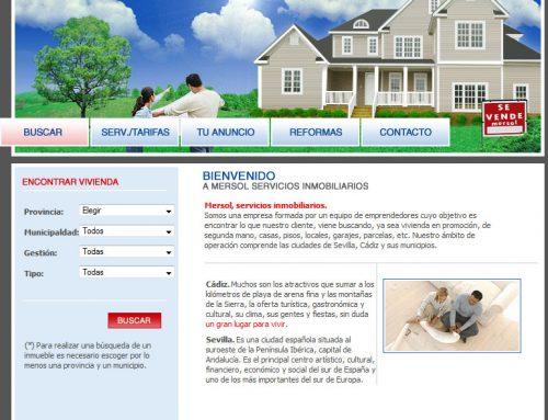 Mersol Inmobiliaria – Comercio electrónico